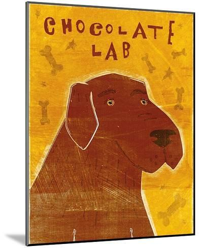 Lab (chocolate)-John W^ Golden-Mounted Art Print