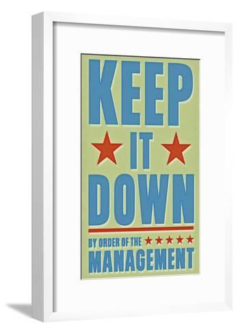 Keep It Down-John W^ Golden-Framed Art Print