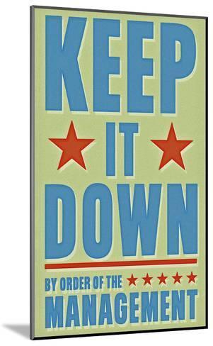 Keep It Down-John W^ Golden-Mounted Art Print