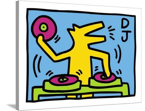KH07-Keith Haring-Stretched Canvas Print