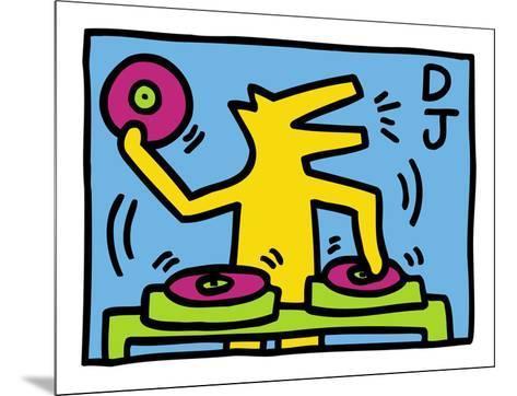 KH07-Keith Haring-Mounted Art Print