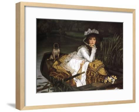 Lady in a Boat-Jacques-Joseph Tissot-Framed Art Print