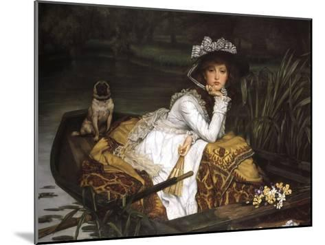 Lady in a Boat-Jacques-Joseph Tissot-Mounted Art Print