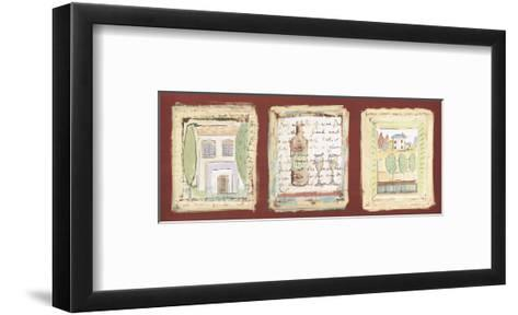 Les petites maisons de Provence-Jane Claire-Framed Art Print