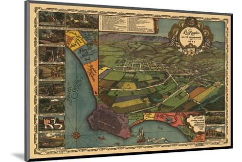 Los Angeles 1871-Vintage Reproduction-Mounted Art Print