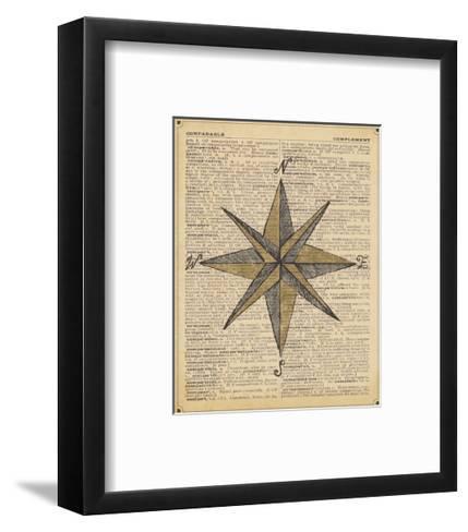 Nautical Series - Nautical Star-Sparx Studio-Framed Art Print