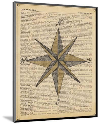 Nautical Series - Nautical Star-Sparx Studio-Mounted Art Print