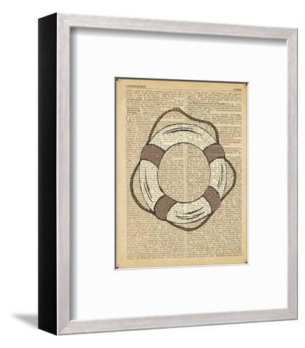 Nautical Series - Life Preserver-Sparx Studio-Framed Art Print