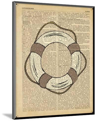 Nautical Series - Life Preserver-Sparx Studio-Mounted Art Print