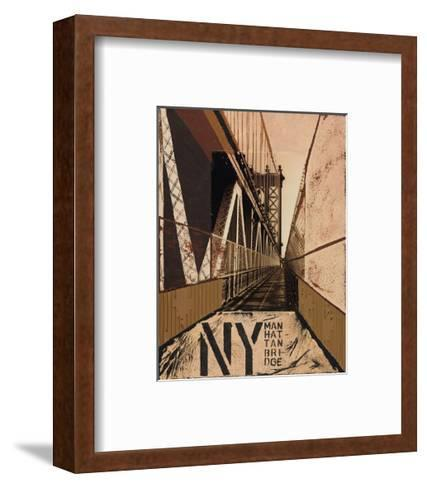 Manhattan Bridge-Mauro Baiocco-Framed Art Print