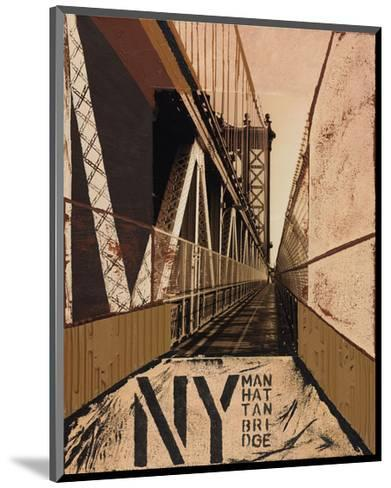 Manhattan Bridge-Mauro Baiocco-Mounted Art Print