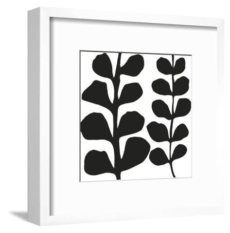 Maidenhair (black on white)-Denise Duplock-Framed Art Print