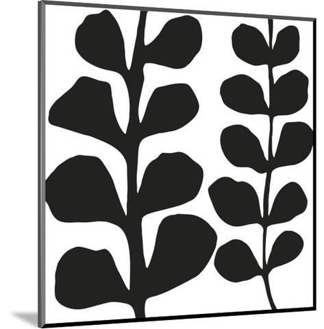 Maidenhair (black on white)-Denise Duplock-Mounted Art Print