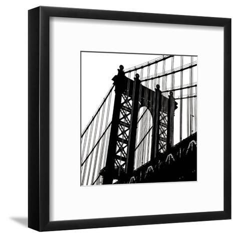 Manhattan Bridge Silhouette (detail)-Erin Clark-Framed Art Print