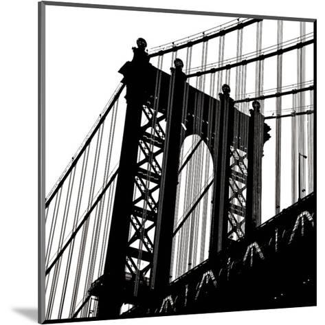 Manhattan Bridge Silhouette (detail)-Erin Clark-Mounted Art Print