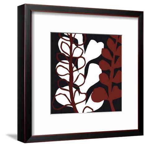 Maidenhair on Black Ground-Denise Duplock-Framed Art Print