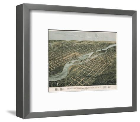 Minneapolis and Saint Anthony, Minnesota, 1867-A^ Ruger-Framed Art Print