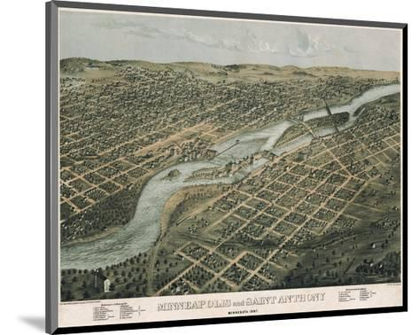 Minneapolis and Saint Anthony, Minnesota, 1867-A^ Ruger-Mounted Art Print