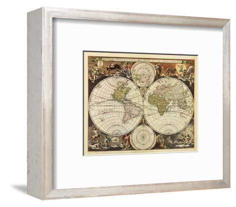 New World Map, 17th Century-Visscher-Framed Art Print