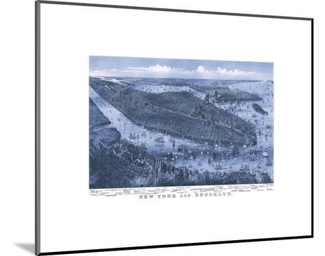 New York and Brooklyn, c. 1875-Parsons and Atwater-Mounted Art Print