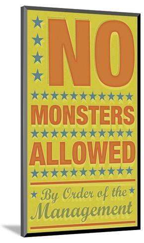 No Monsters Allowed-John W^ Golden-Mounted Art Print