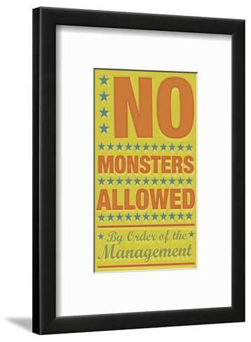 No Monsters Allowed-John W^ Golden-Framed Art Print
