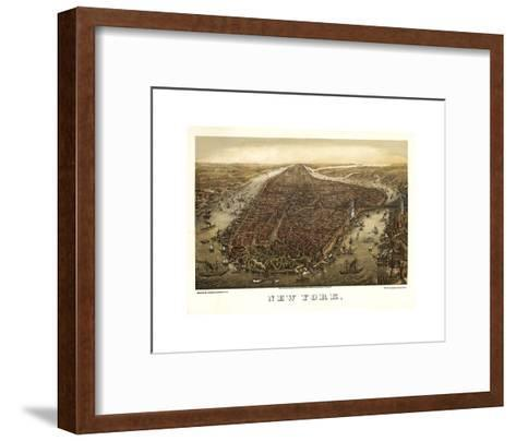 New York, 1873-Ward Maps-Framed Art Print