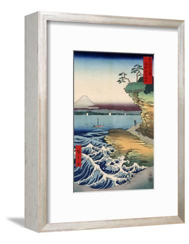 Otsuki Plain in Kai Province, from the series Thirty-six Views of Mount Fuji, 1858-Ando Hiroshige-Framed Art Print