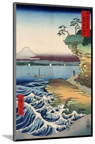 Otsuki Plain in Kai Province, from the series Thirty-six Views of Mount Fuji, 1858-Ando Hiroshige-Mounted Art Print