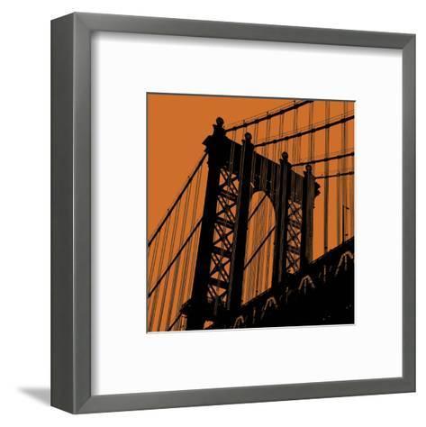 Orange Manhattan-Erin Clark-Framed Art Print