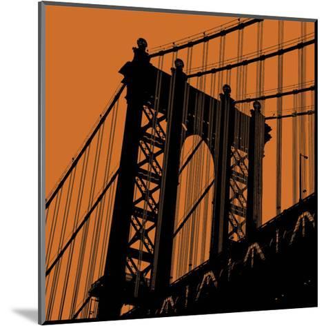 Orange Manhattan-Erin Clark-Mounted Art Print