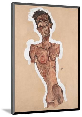 Nude Self-Portrait-Egon Schiele-Mounted Art Print