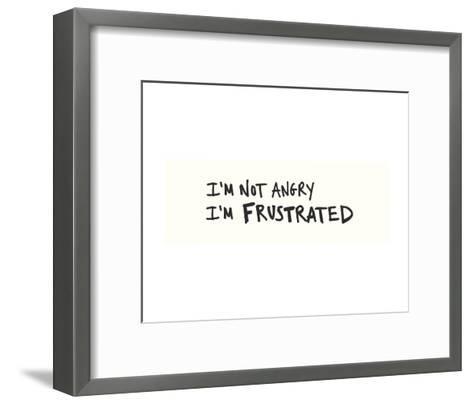 Not Angry-Urban Cricket-Framed Art Print