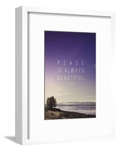 Peace Is Always Beautiful-Leah Flores-Framed Art Print