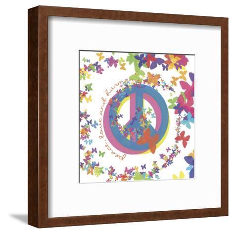Peace, Love, and Harmony-Erin Clark-Framed Art Print