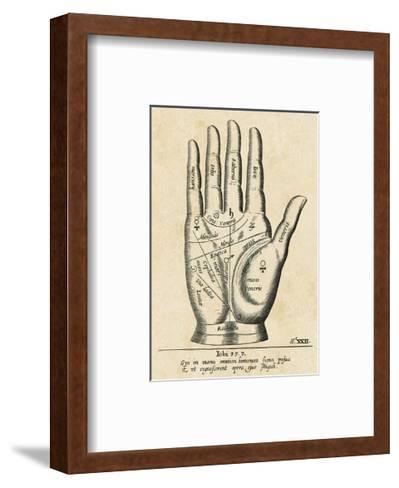 Palmistry: Palm Diagram-Vintage Reproduction-Framed Art Print