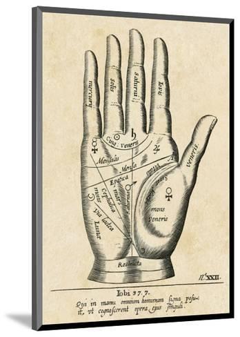 Palmistry: Palm Diagram-Vintage Reproduction-Mounted Art Print