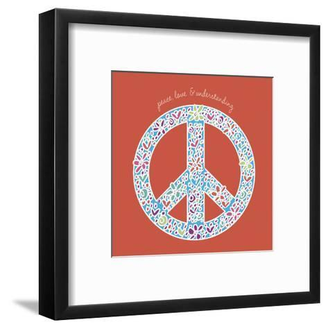 Peace, Love, and Understanding-Erin Clark-Framed Art Print