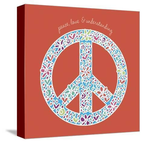 Peace, Love, and Understanding-Erin Clark-Stretched Canvas Print