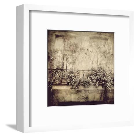 Paris Window Garden-Dawne Polis-Framed Art Print