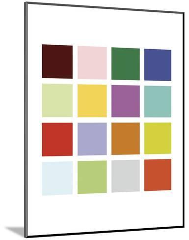 Paint Box Graphic II (detail)-Dan Bleier-Mounted Art Print