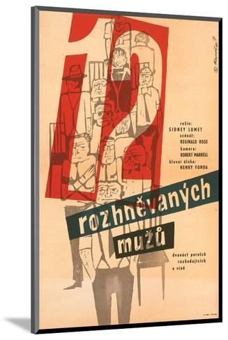 12 Angry Men-Rozhnevanych--Mounted Art Print