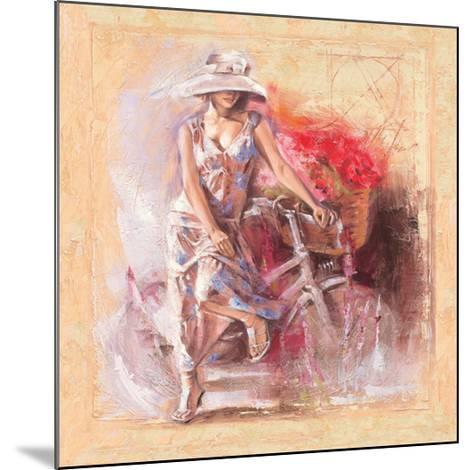 A Basket Full of Flower-Talantbek Chekirov-Mounted Premium Giclee Print