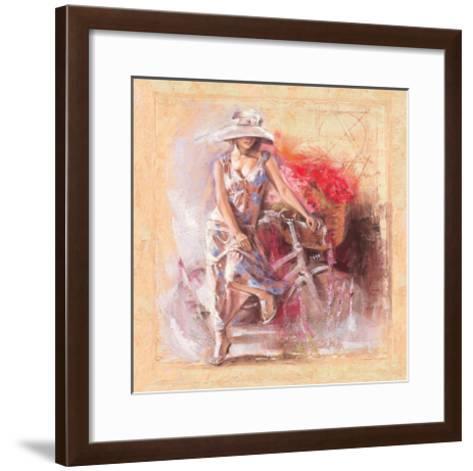 A Basket Full of Flower-Talantbek Chekirov-Framed Art Print