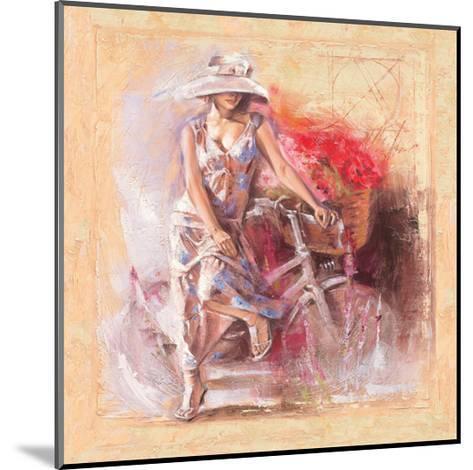A Basket Full of Flower-Talantbek Chekirov-Mounted Art Print