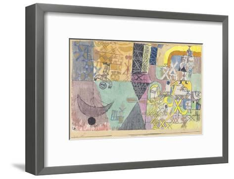Asian Entertainers-Paul Klee-Framed Art Print
