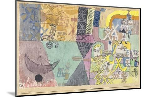 Asian Entertainers-Paul Klee-Mounted Art Print