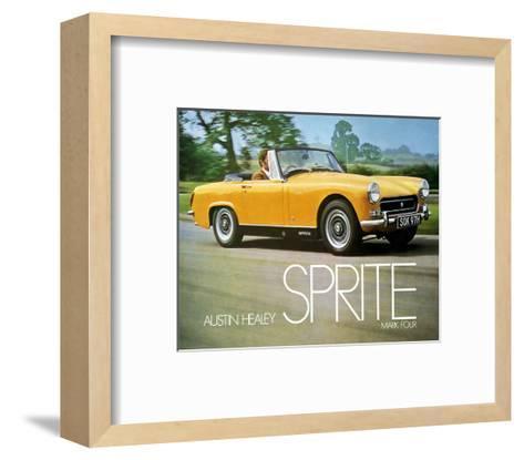 Austin Healey Sprite Mark 4--Framed Art Print
