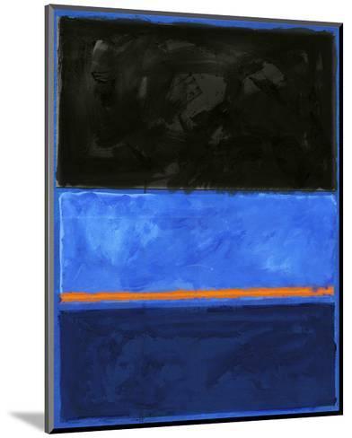 Black and Tangerine-Carmine Thorner-Mounted Art Print