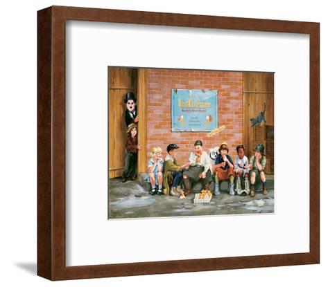 Chaplin Kid Alley Ice Cream-Renate Holzner-Framed Art Print